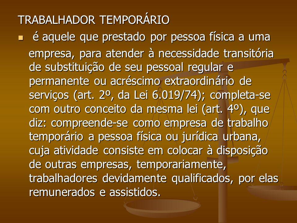 TRABALHADOR TEMPORÁRIO