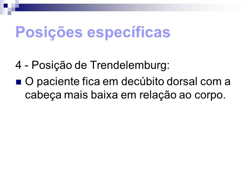 Posições específicas 4 - Posição de Trendelemburg: