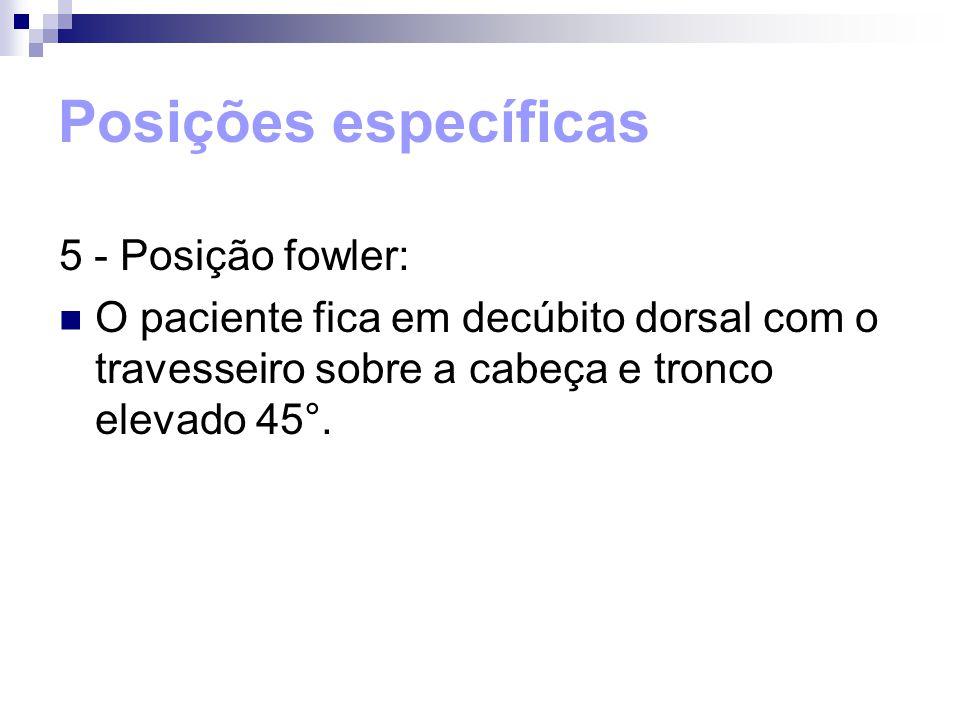 Posições específicas 5 - Posição fowler: