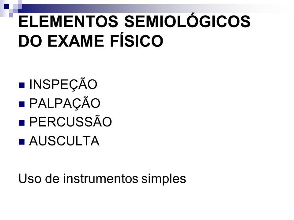 ELEMENTOS SEMIOLÓGICOS DO EXAME FÍSICO