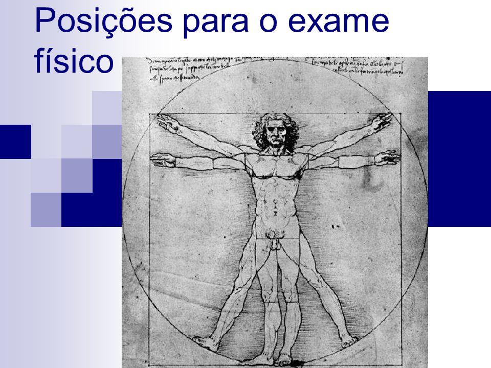 Posições para o exame físico