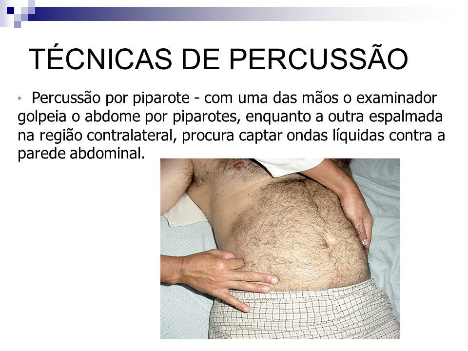 TÉCNICAS DE PERCUSSÃO