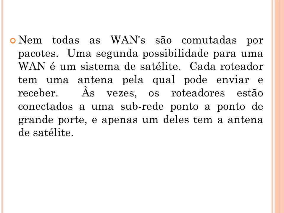 Nem todas as WAN s são comutadas por pacotes