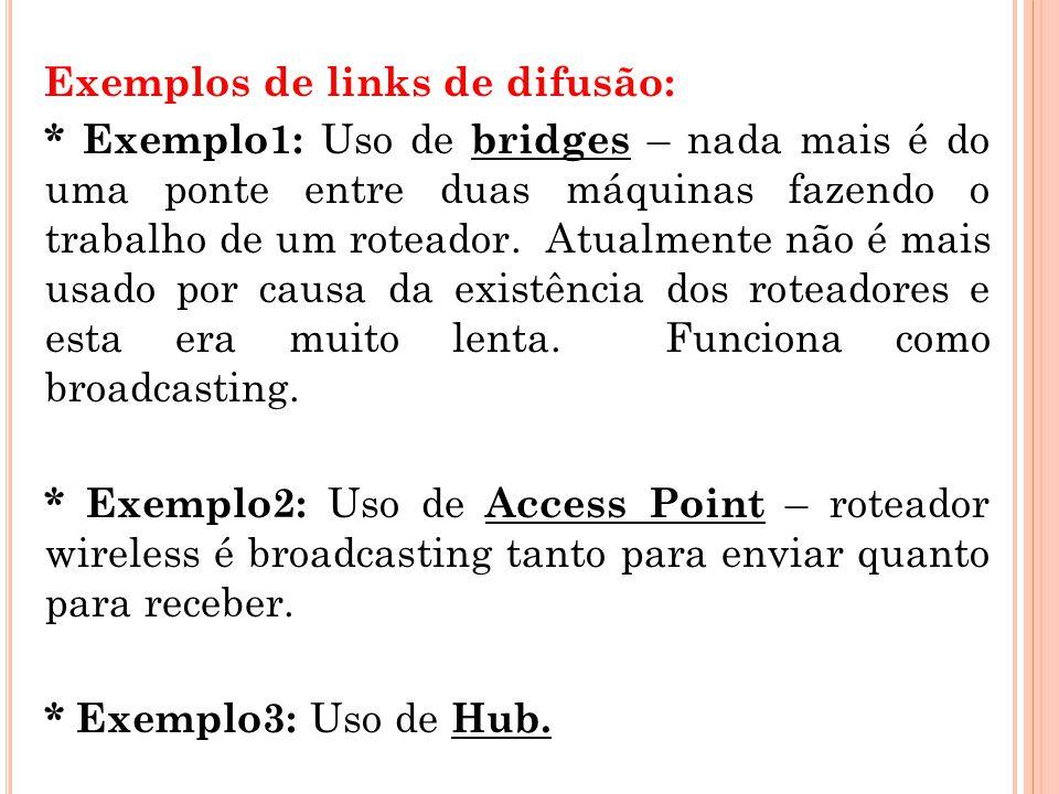 Exemplos de links de difusão: