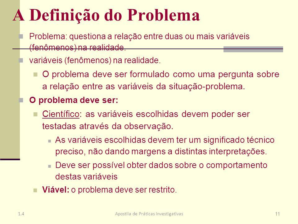 A Definição do Problema