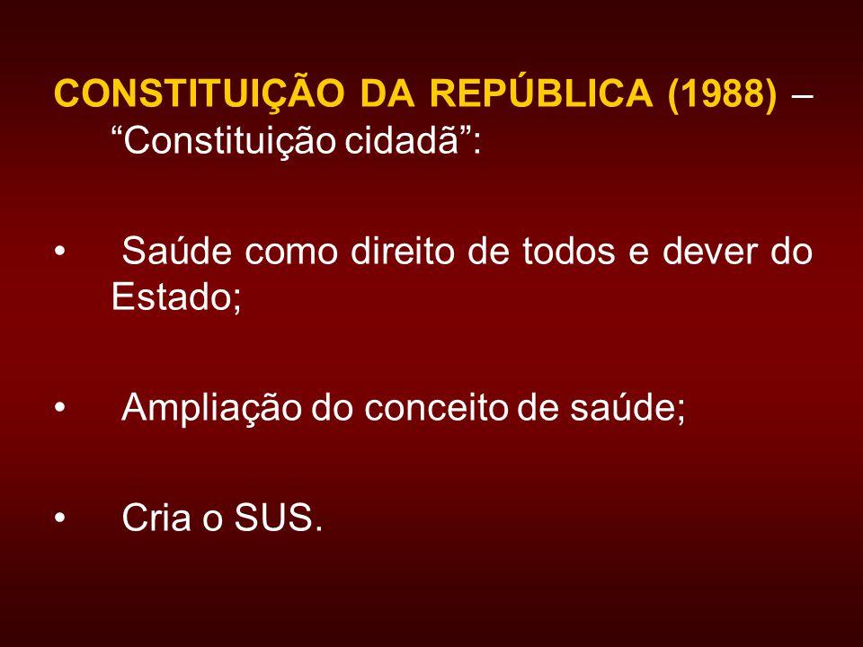 CONSTITUIÇÃO DA REPÚBLICA (1988) – Constituição cidadã :