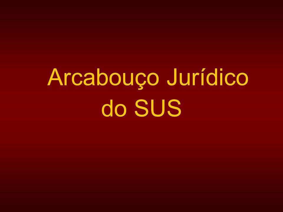 Arcabouço Jurídico do SUS