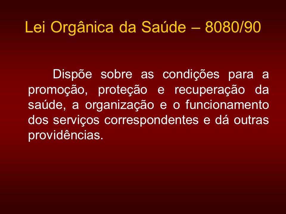 Lei Orgânica da Saúde – 8080/90