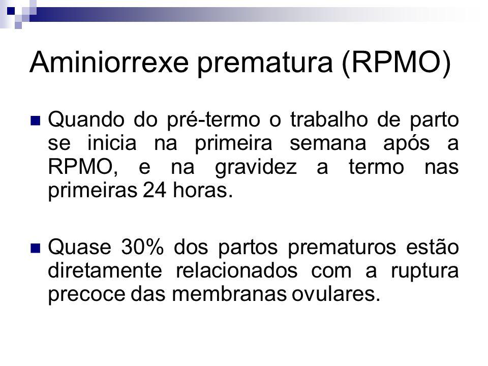 Aminiorrexe prematura (RPMO)