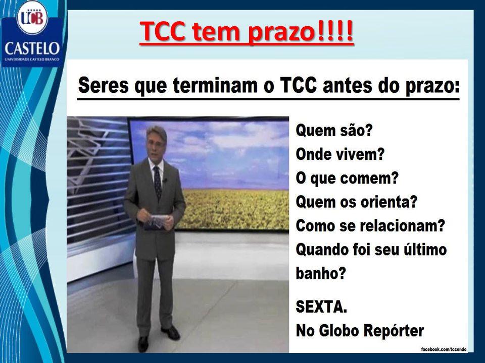 TCC tem prazo!!!!