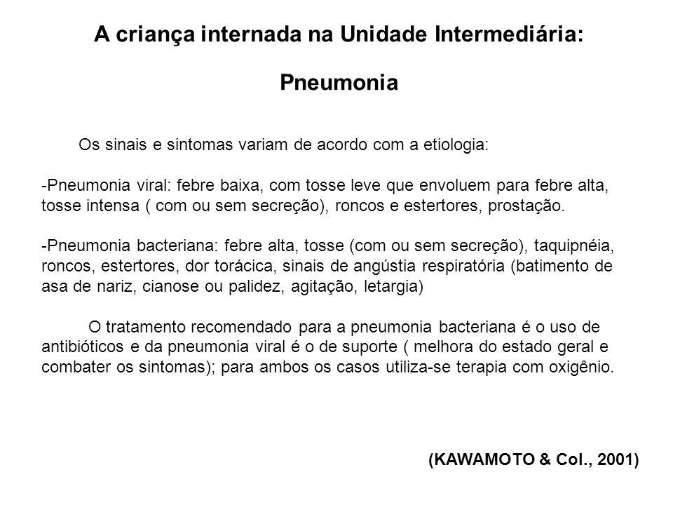 A criança internada na Unidade Intermediária: Pneumonia