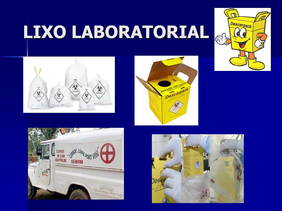 LIXO LABORATORIAL