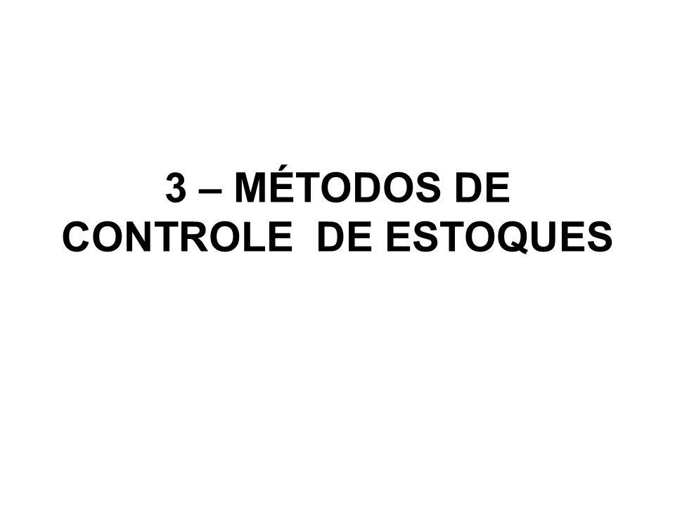 3 – MÉTODOS DE CONTROLE DE ESTOQUES