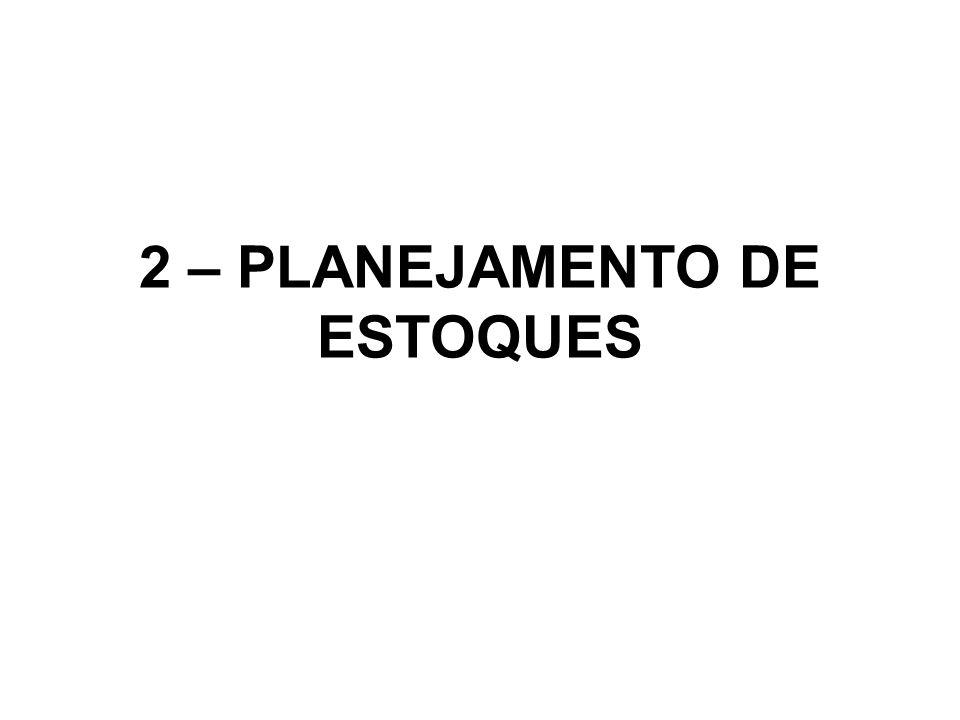 2 – PLANEJAMENTO DE ESTOQUES