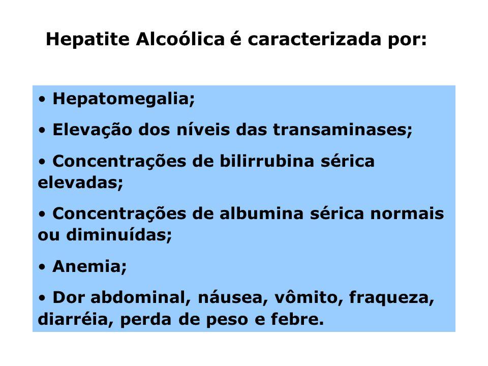 Hepatite Alcoólica é caracterizada por: