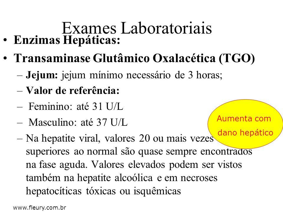 Exames Laboratoriais Enzimas Hepáticas: