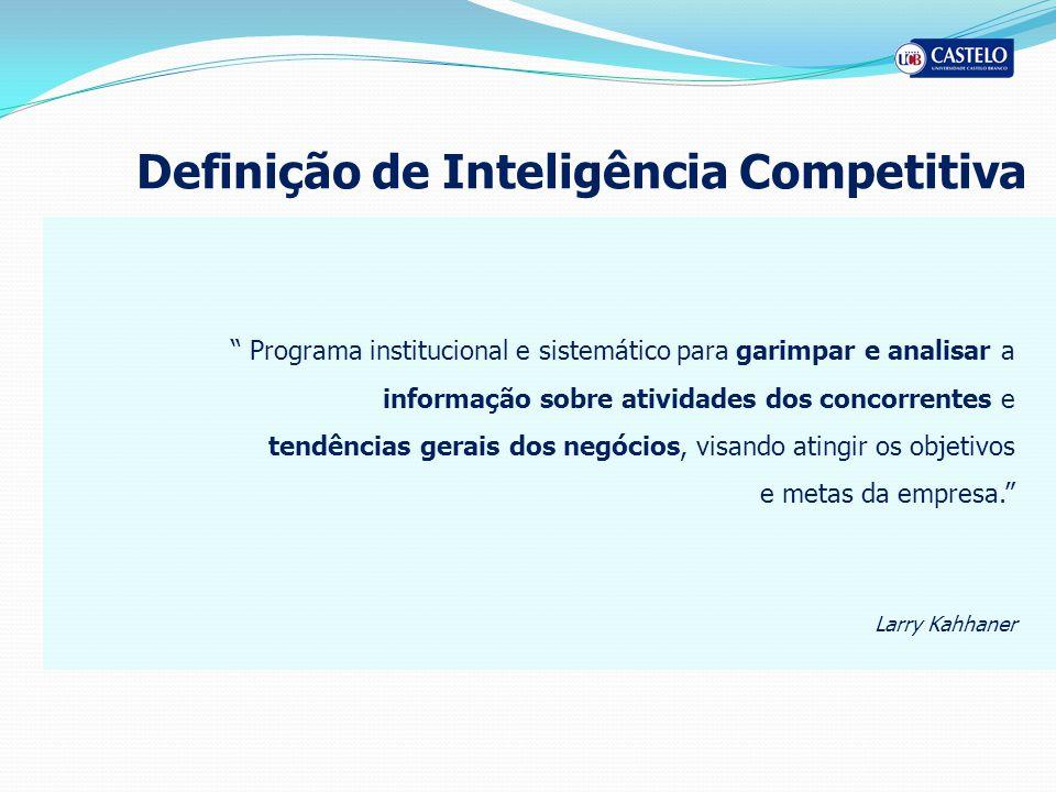 Definição de Inteligência Competitiva