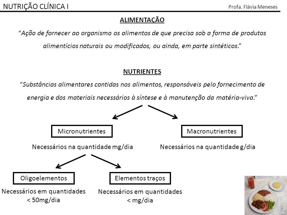 NUTRIÇÃO CLÍNICA I ALIMENTAÇÃO