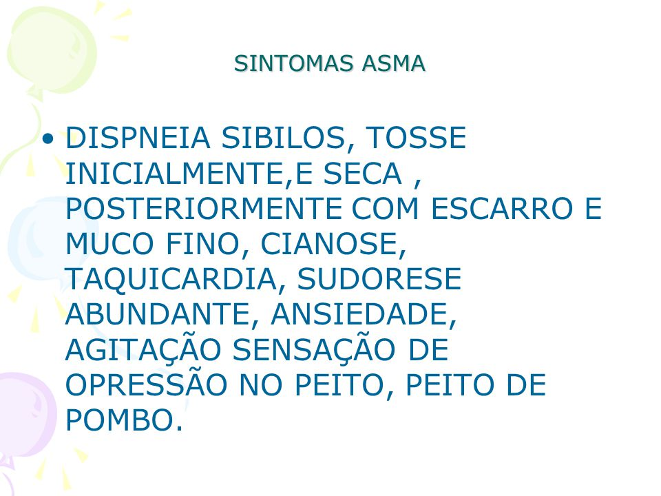 SINTOMAS ASMA
