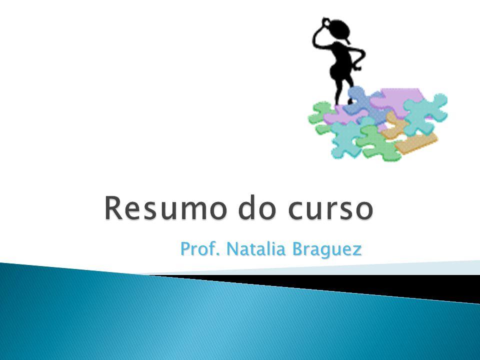 Resumo do curso Prof. Natalia Braguez