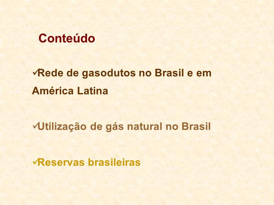 Conteúdo Rede de gasodutos no Brasil e em América Latina