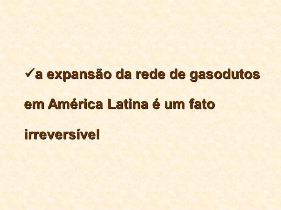 a expansão da rede de gasodutos em América Latina é um fato irreversível
