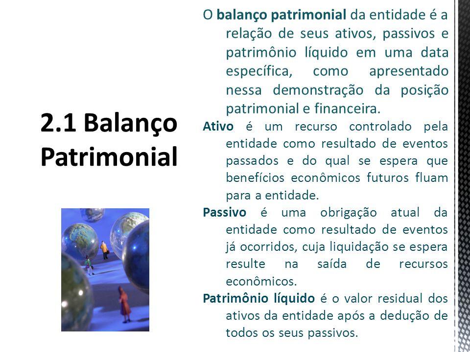 O balanço patrimonial da entidade é a relação de seus ativos, passivos e patrimônio líquido em uma data específica, como apresentado nessa demonstração da posição patrimonial e financeira.