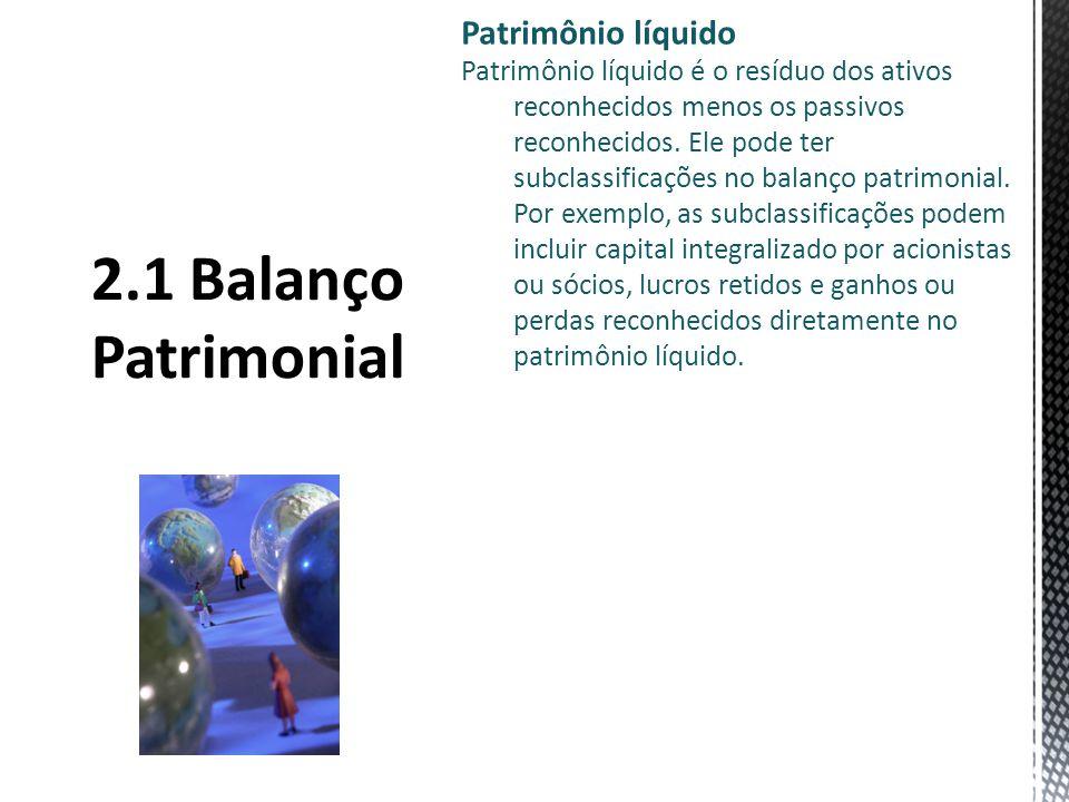 2.1 Balanço Patrimonial Patrimônio líquido
