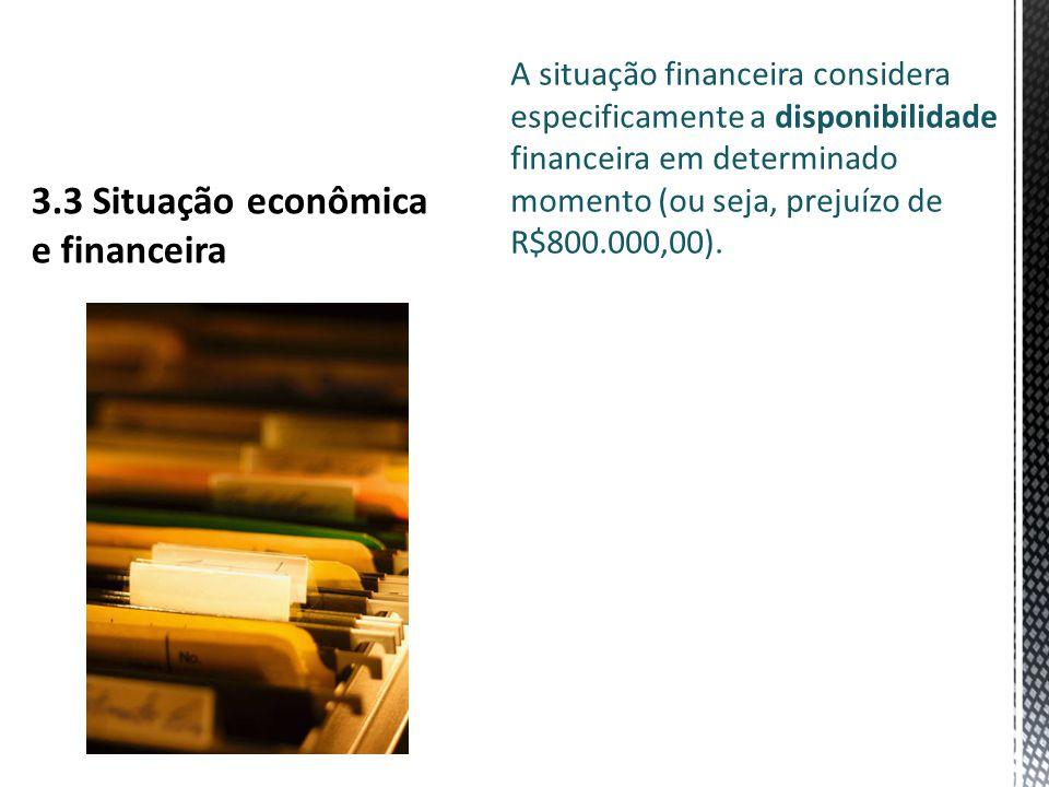 3.3 Situação econômica e financeira