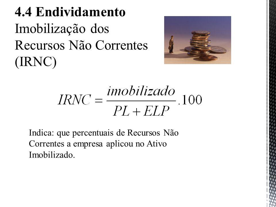 Imobilização dos Recursos Não Correntes (IRNC)