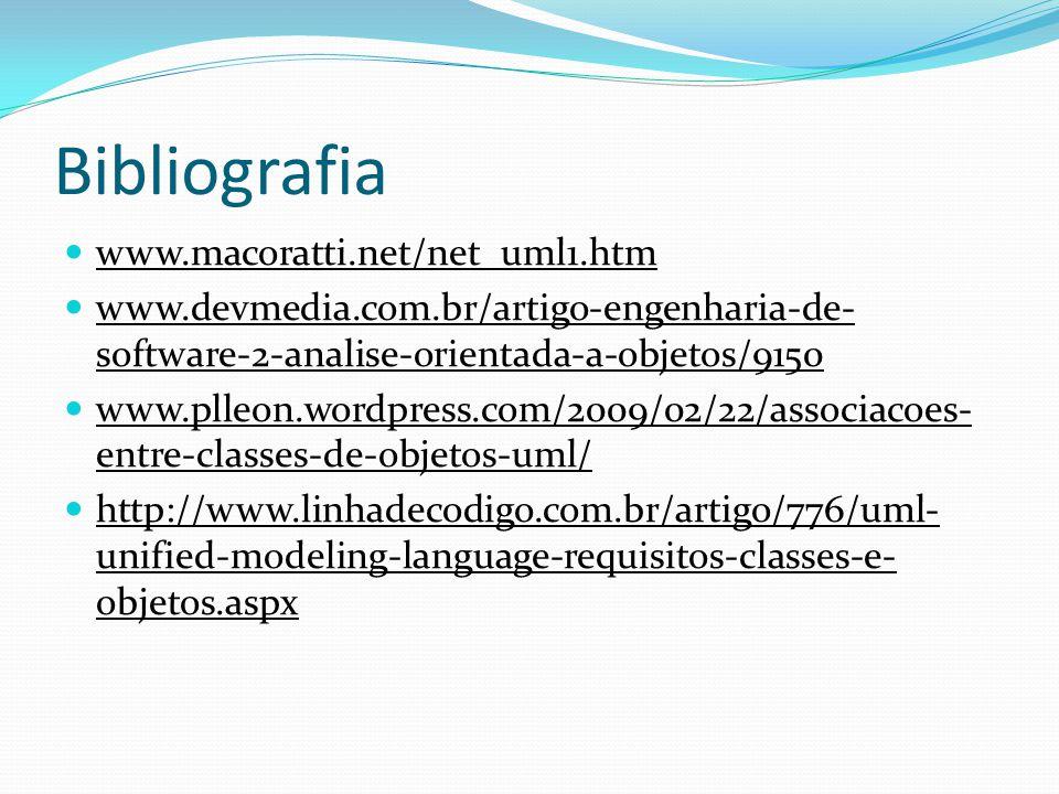 Bibliografia www.macoratti.net/net_uml1.htm