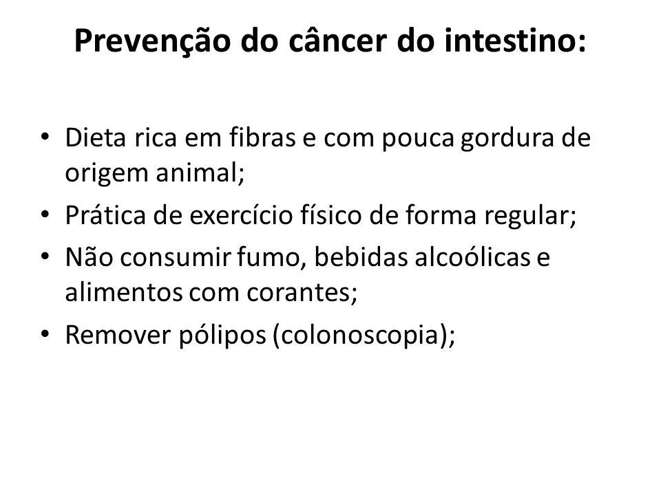 Prevenção do câncer do intestino: