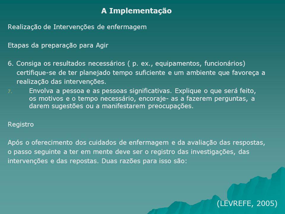 A Implementação (LEVREFE, 2005)