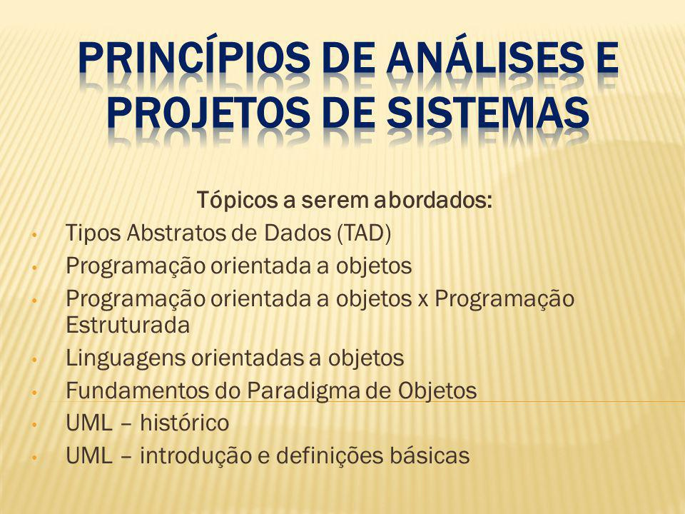 Princípios de Análises e projetos de sistemas