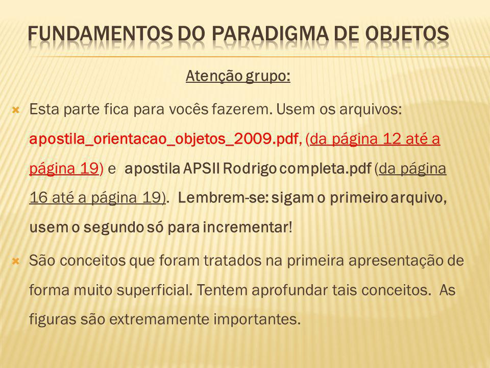 Fundamentos do Paradigma de Objetos