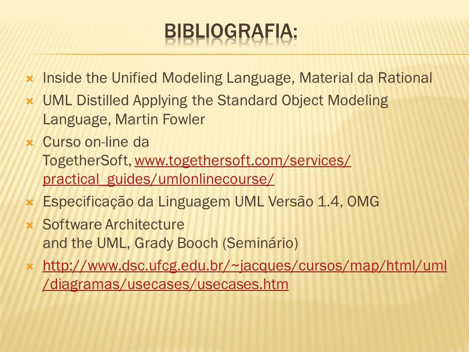 Bibliografia: Inside the Unified Modeling Language, Material da Rational.