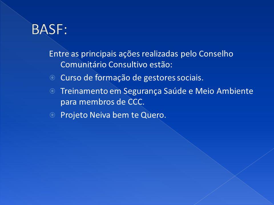 BASF: Entre as principais ações realizadas pelo Conselho Comunitário Consultivo estão: Curso de formação de gestores sociais.