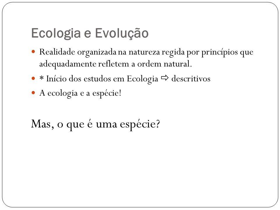 Ecologia e Evolução Mas, o que é uma espécie