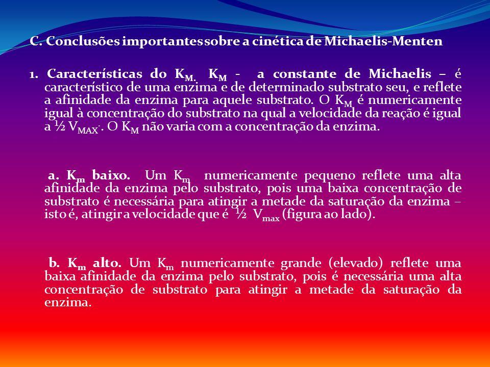 C. Conclusões importantes sobre a cinética de Michaelis-Menten 1