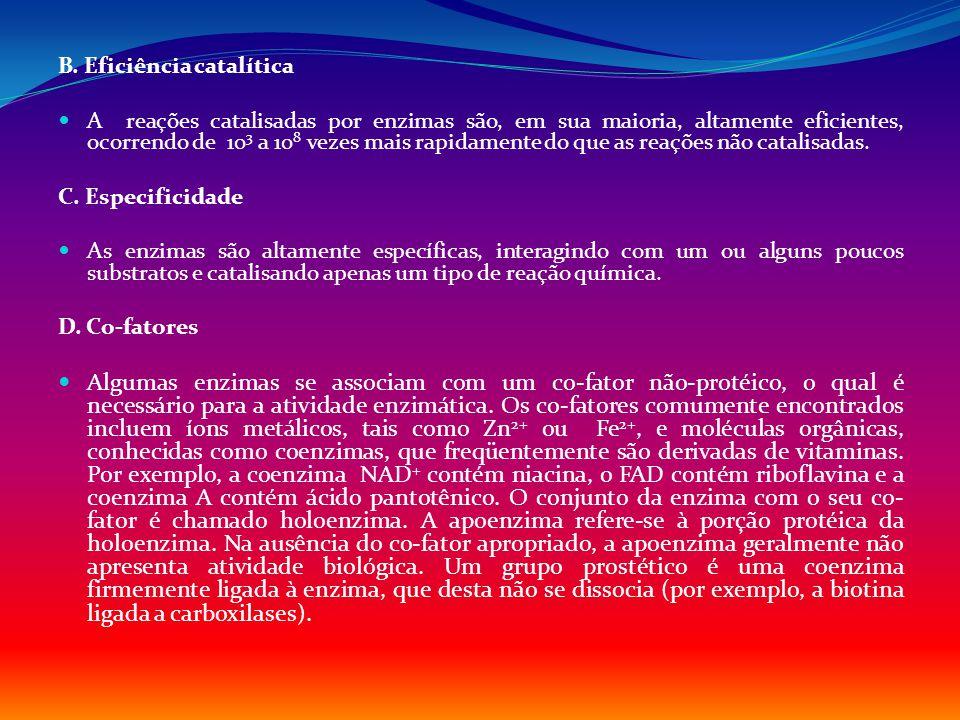 B. Eficiência catalítica
