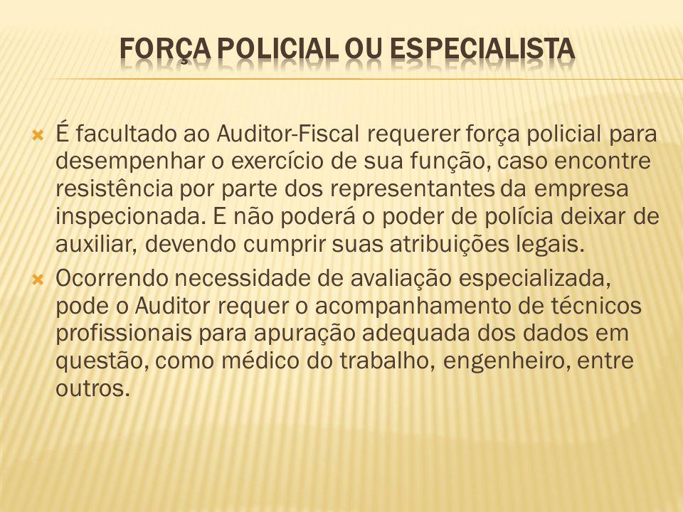 Força Policial ou Especialista