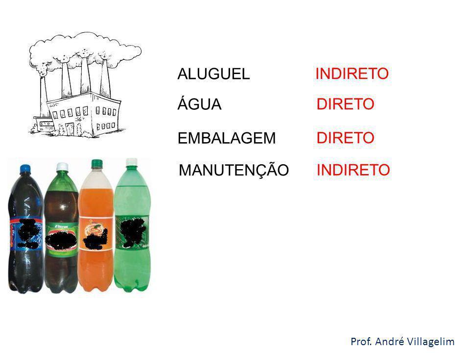 ALUGUEL INDIRETO ÁGUA DIRETO EMBALAGEM DIRETO MANUTENÇÃO INDIRETO