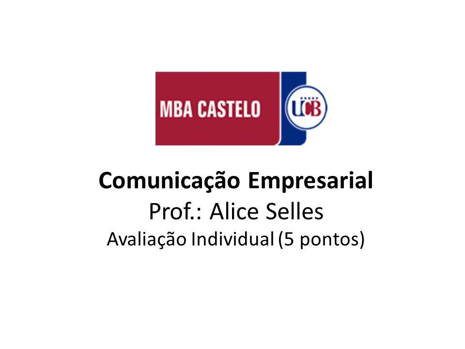 Comunicação Empresarial Prof