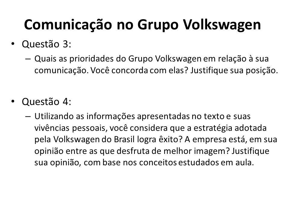 Comunicação no Grupo Volkswagen