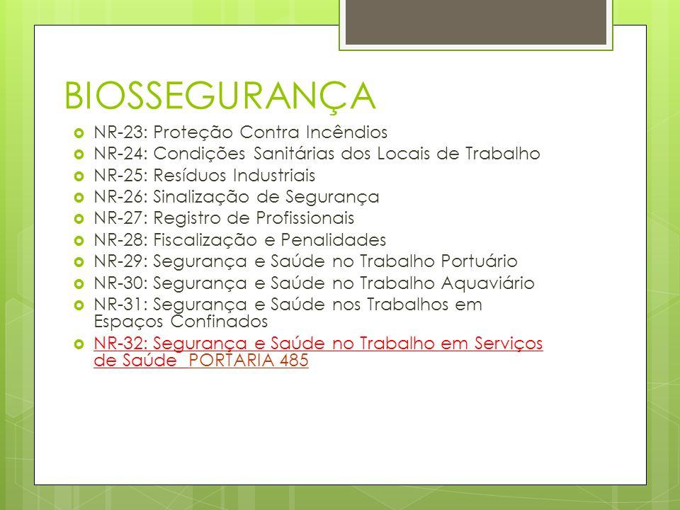 BIOSSEGURANÇA NR-23: Proteção Contra Incêndios