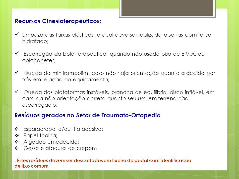 Recursos Cinesioterapêuticos: