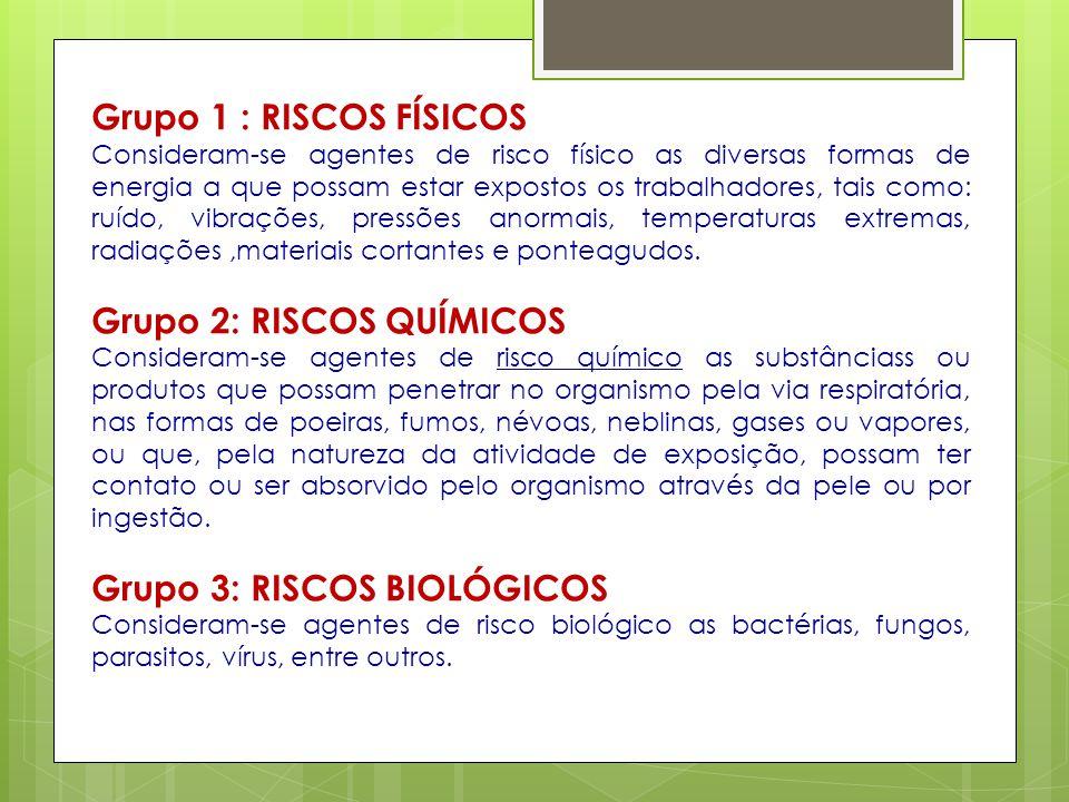 Grupo 2: RISCOS QUÍMICOS