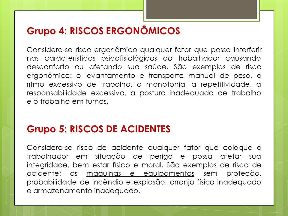 Grupo 4: RISCOS ERGONÔMICOS