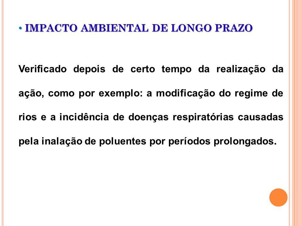 IMPACTO AMBIENTAL DE LONGO PRAZO