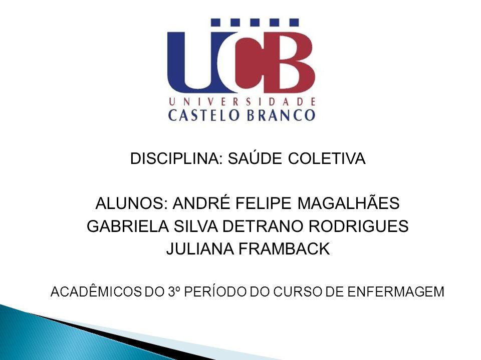 ALUNOS: ANDRÉ FELIPE MAGALHÃES GABRIELA SILVA DETRANO RODRIGUES